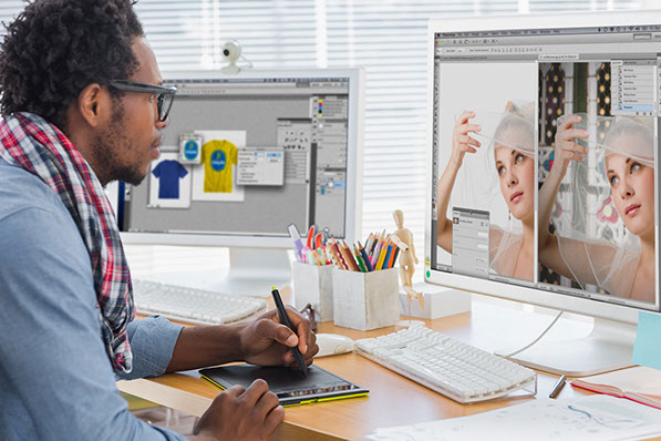Art Director working with Adobe Photoshop